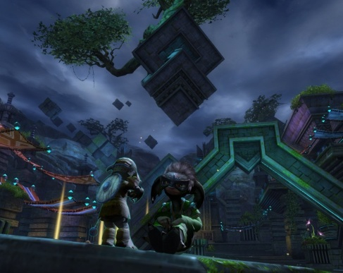 Actually sitting on top of a giant arch.  About 200 asura high.