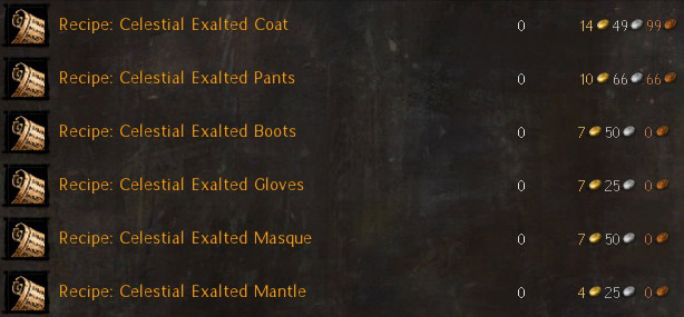 Celestial crafting is a bit...involved.