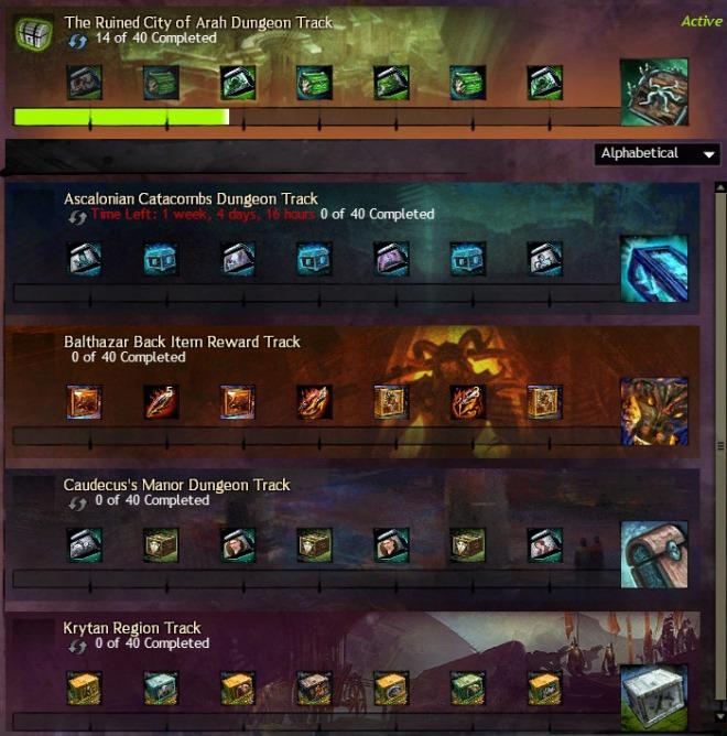Reward tracks! I should go do that next tier of Arah already.