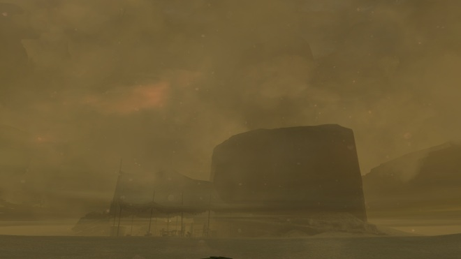 This is what exploring during the sandstorm looks like...and that's surprisingly clear for that area.