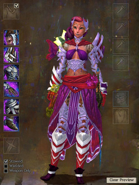 Liusaidh showing off the light Carapace set.